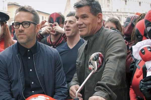 Deadpool 2 cinecomics con Ryan Reynolds e Josh Brolin: video delle due star a Roma con i fan