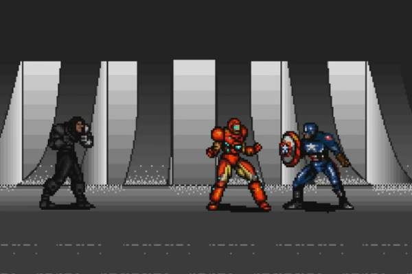Captain America Civil War al cinema: trailer vintage alternativo in modalità videogame a 8-Bit