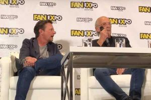 Michael J Fox e Christopher Lloyd al Panel di Ritorno al futuro al FanExpo 2018 di Boston