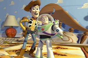 Toy Story film Disney Pixar: clip con il film animato e gli storyboard art a confronto