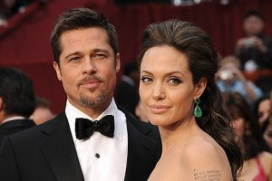 Angelina Jolie e Brad Pitt prime immagini di By the sea a Supercinema, Canale 5