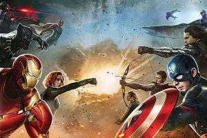Captain America Civil War: fotogallery poster, artwork e immagini sul set con Chris Evans e Robert Downey Jr e gli Avengers schierati
