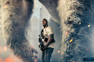 "Rampage con Dwayne Johnson uscita cinema: speciale ""Behind the scenes"""